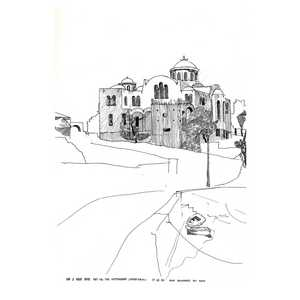 Greek Island Drawing - Gordon Coldwell