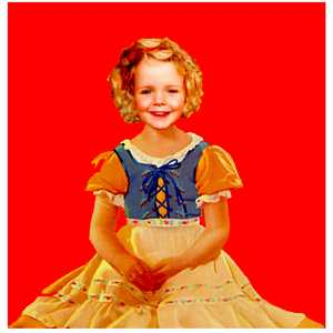 Scarlett as Shirley Temple (Red